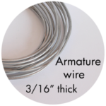 """Art Supplies: Armature Wire, 3/16"""" thick"""