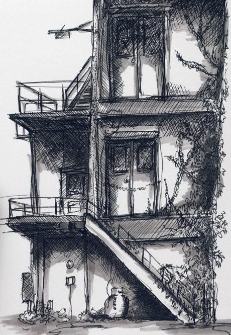 Pen & Marker Drawing, Justin Gotzis