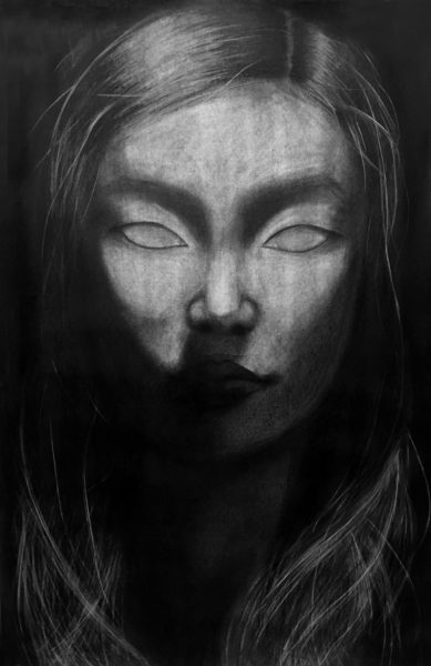 Charcoal Drawing, Ruth Lee