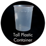 Art Supplies: Tall Plastic Container