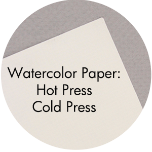 Art Supplies: Hot Press / Cold Press Watercolor Paper