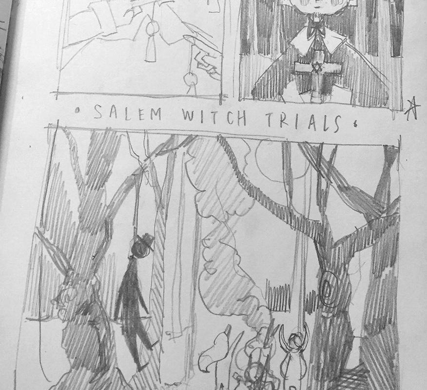 Christina Wu, Historical Illustration: Salem Witch Trials