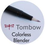 Art Supplies: Tombow Colorless Blender