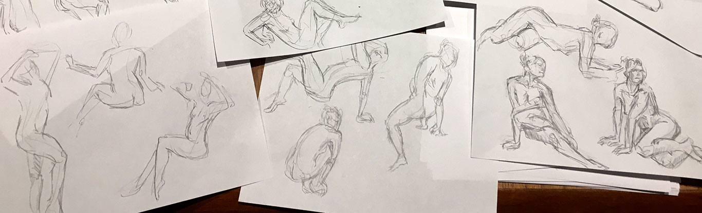 Figure Drawings, Cindy Qiao