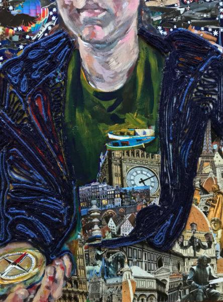 Mixed Media Painting, Elsa Hillis