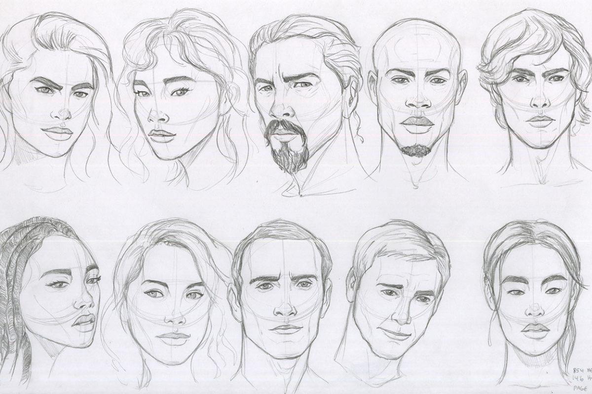 Portrait Drawings, Jordan McCracken-Foster