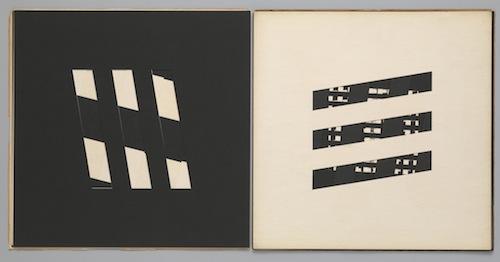 """book c6"" (1959), artist's book of hand-cut cardstock"