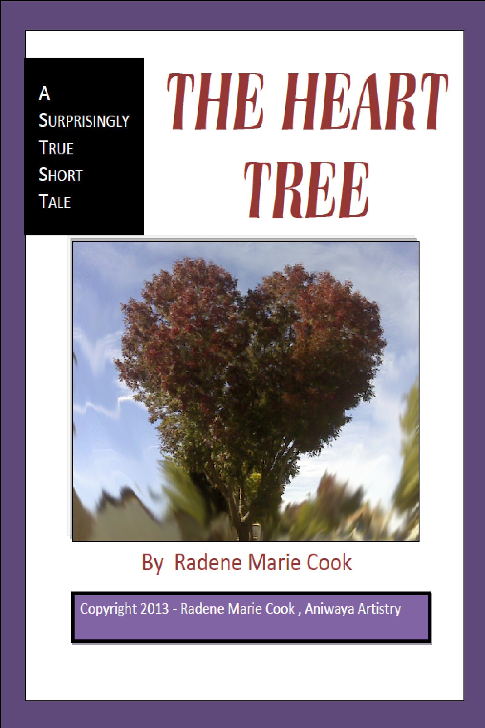 Book cover with heart tree in center