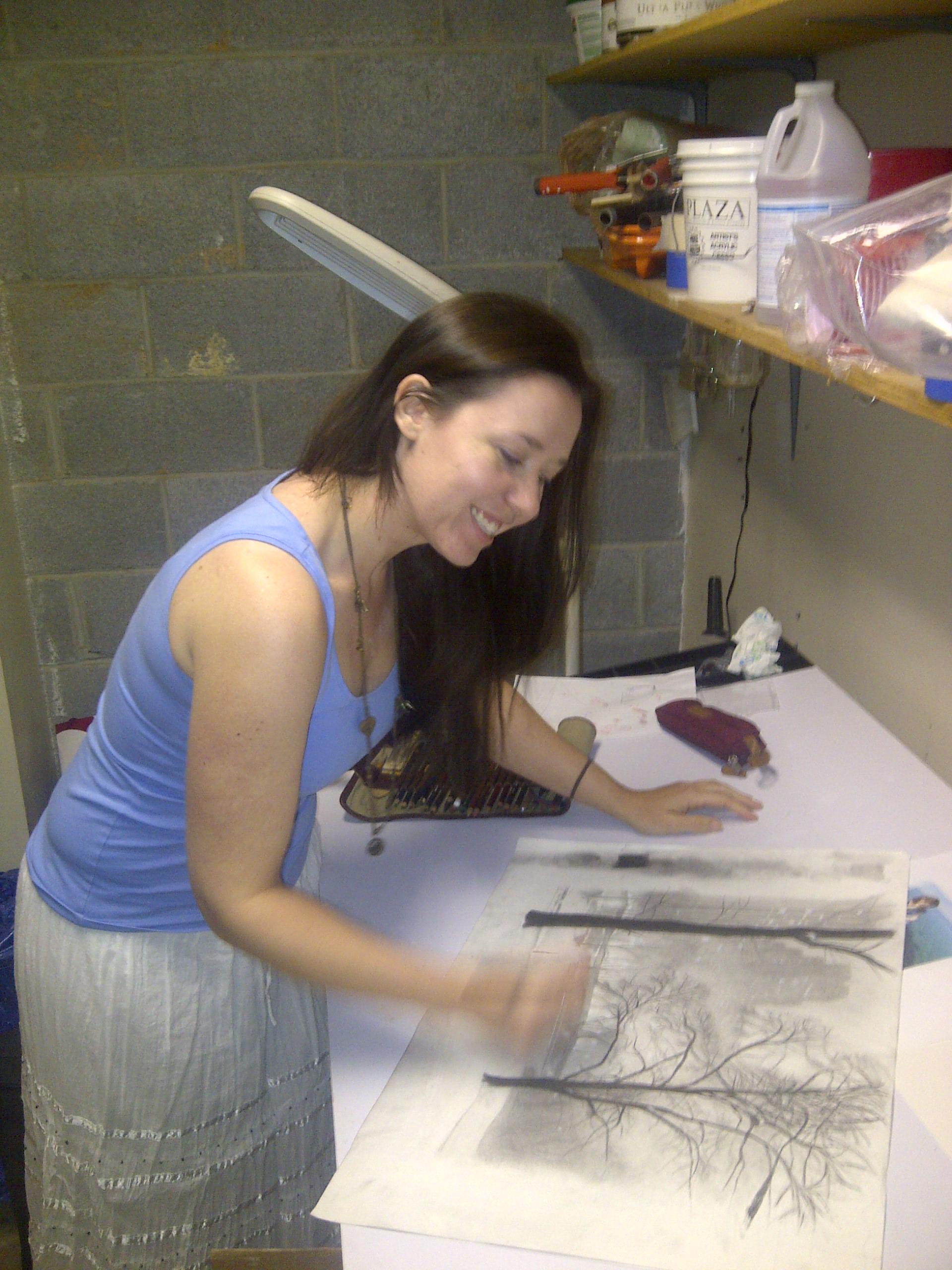 Rebecca Scheuerman at work