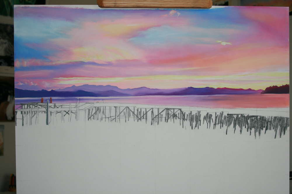 More completed sky in Astoria Sunrise