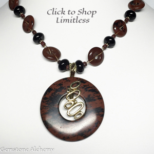 Limitless Mahogancy Obsidian Necklace