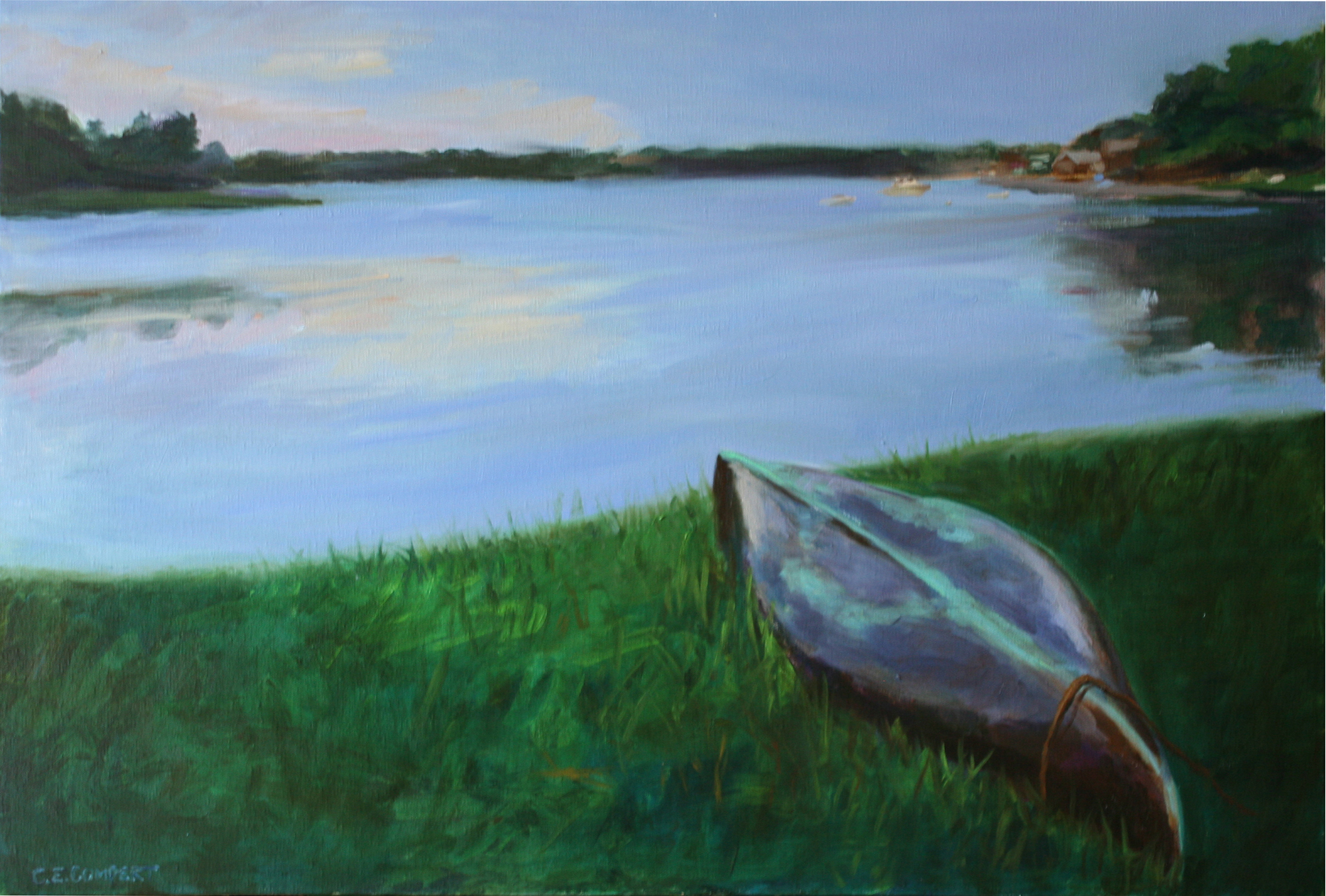 Christina's Boat - Oil on Canvas