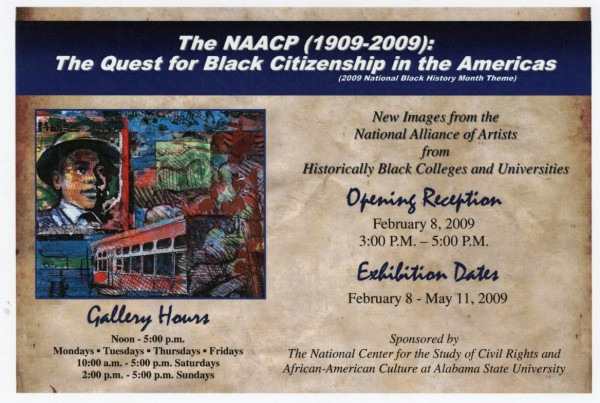 Invitation for exhibit at Alabama State University