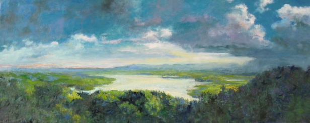 New painting of view of Hudson R. from F. Church's home,Olana....the view is a favorite of mine.