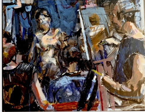 """Muse, Impressionist Artist meets Model, from """"PORTRAIT, FIGURES AND NARRATIVE PAINTINGS"""""""