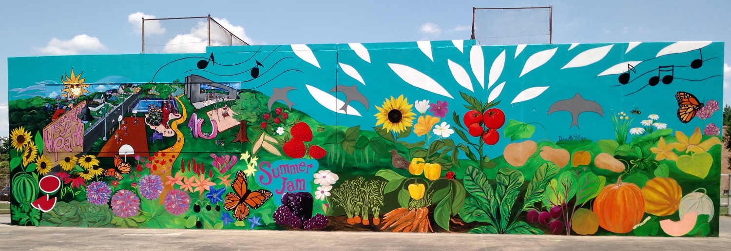 Fantastic food garden mural for Mural garden