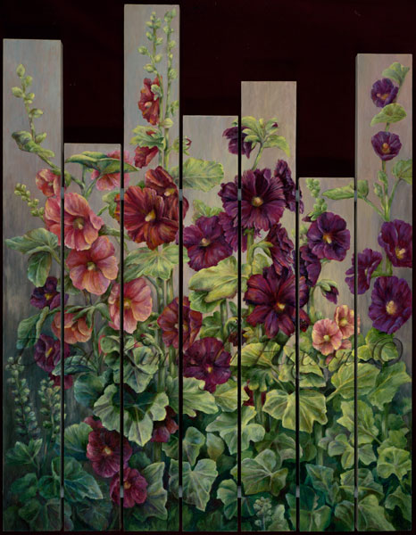 Black Cherry Hollyhocks