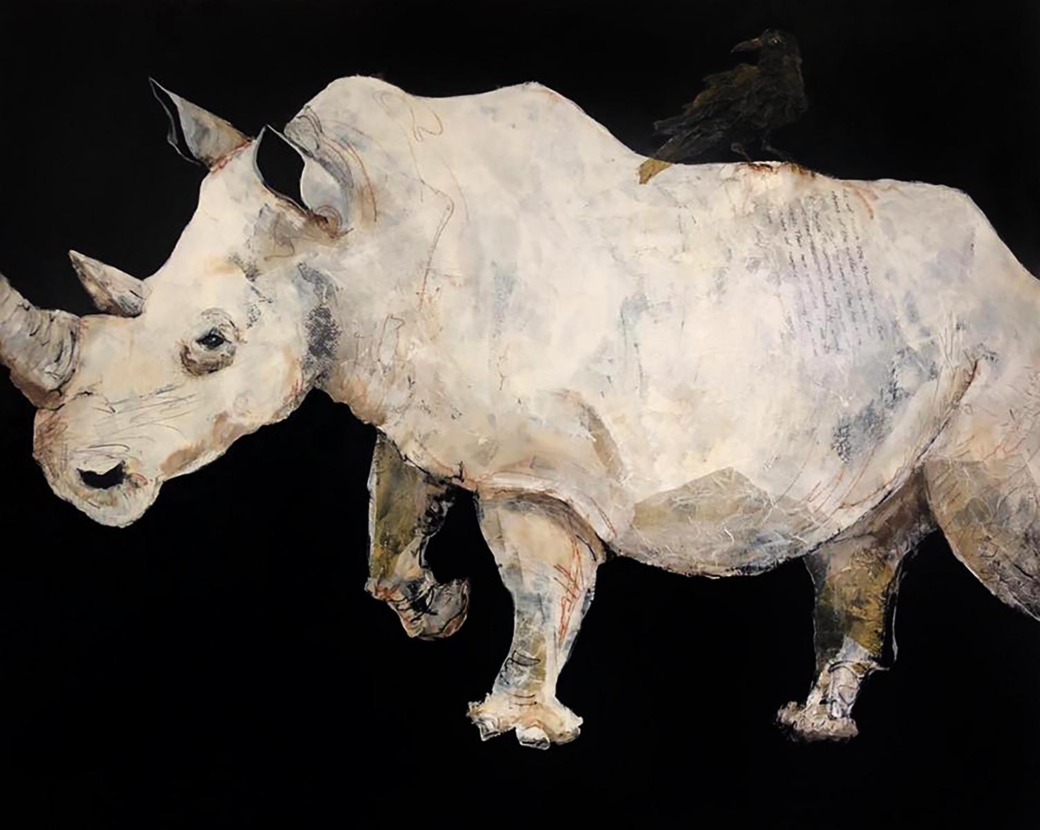 Rhinosaur ` Mixed media on canvas
