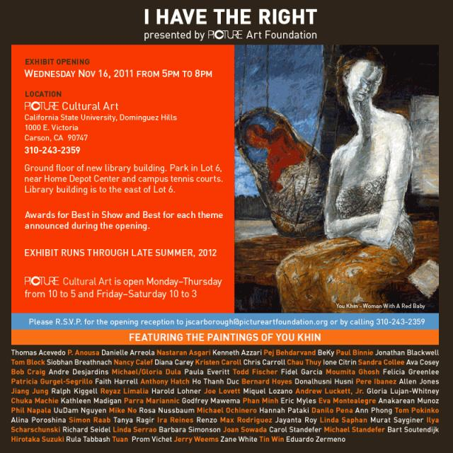 POSTER OF I HAVE THE RIGHT OPENING NOV 16, 2011