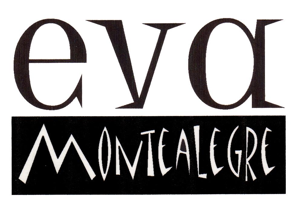 eva montealegre logo in matisse font