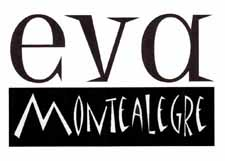 eva montealegre logo, m looks like a mountain eva is big