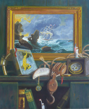 still life with nautical objects