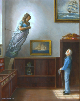 sailor and his ship's figurehead