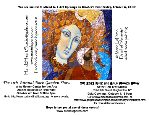 2 opening receptions flier with Artemis