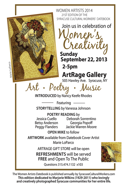 Celebration of Women's Creativity Flyer