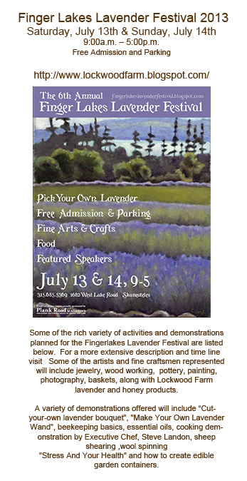 Lavender Fest 2013 announcement