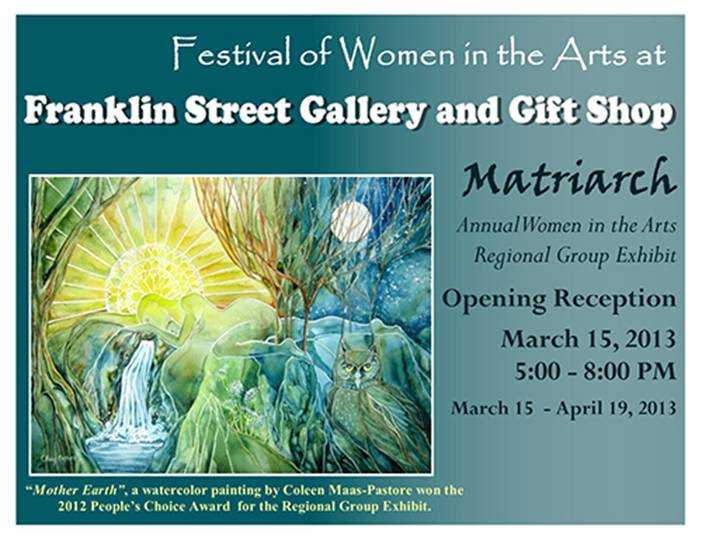 "Poster for ""Matriarch: Annual Women in the Arts Regional Group Exhibit"""