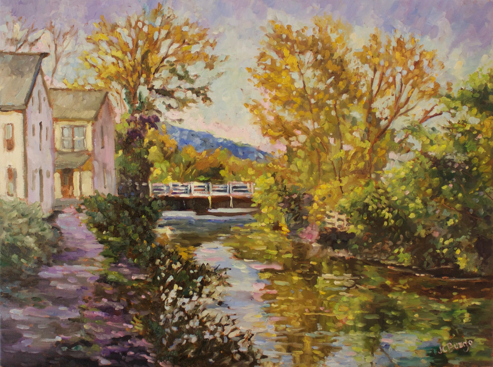 Canal at Morning 18x24 oil/canvas