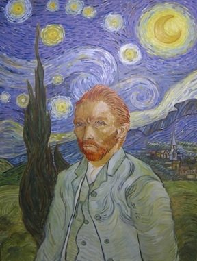 Vincent van Gogh's Starry Night and Self-Portrait
