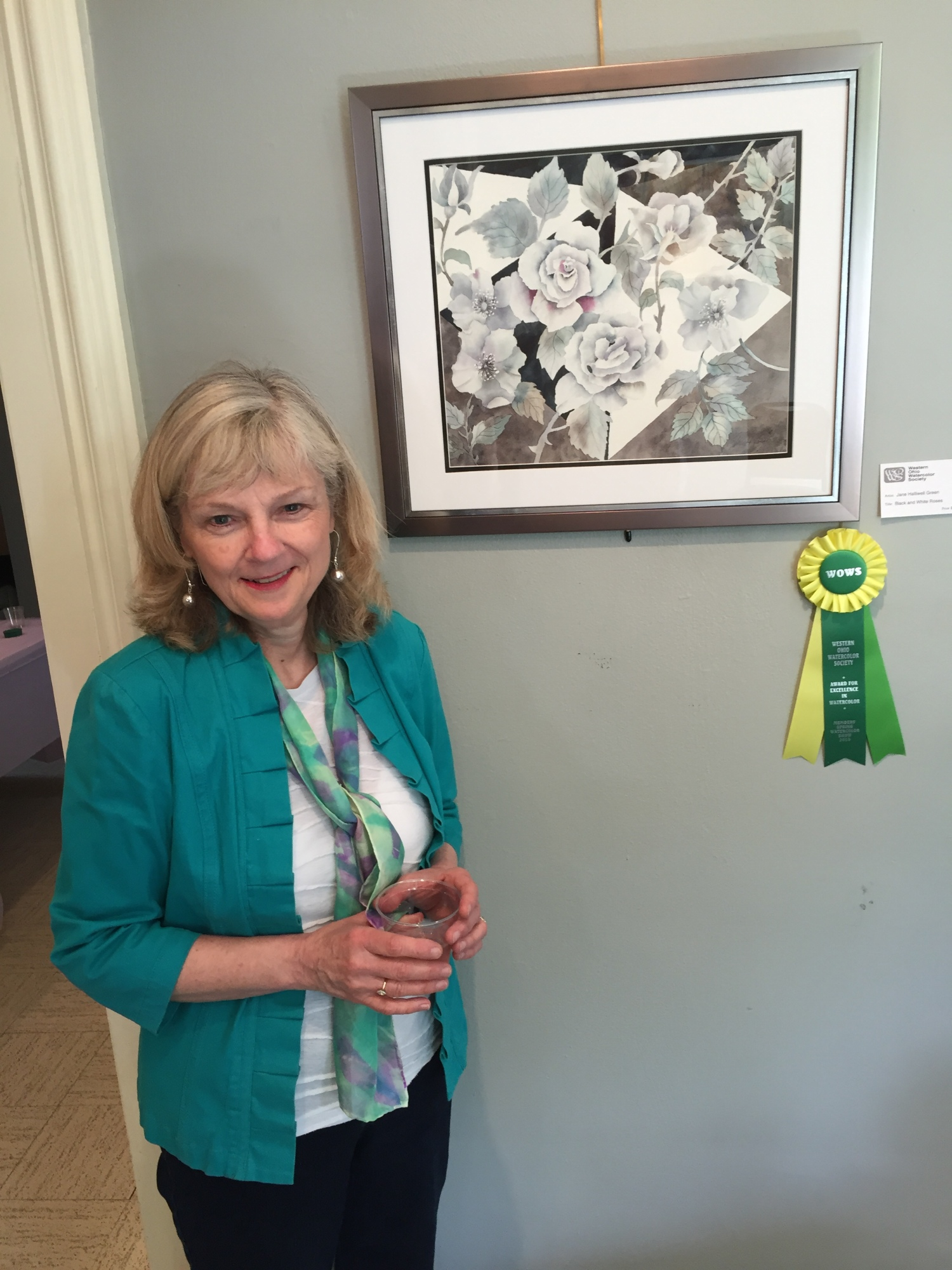 Jane's ribbon from the Western Ohio Watercolor Society
