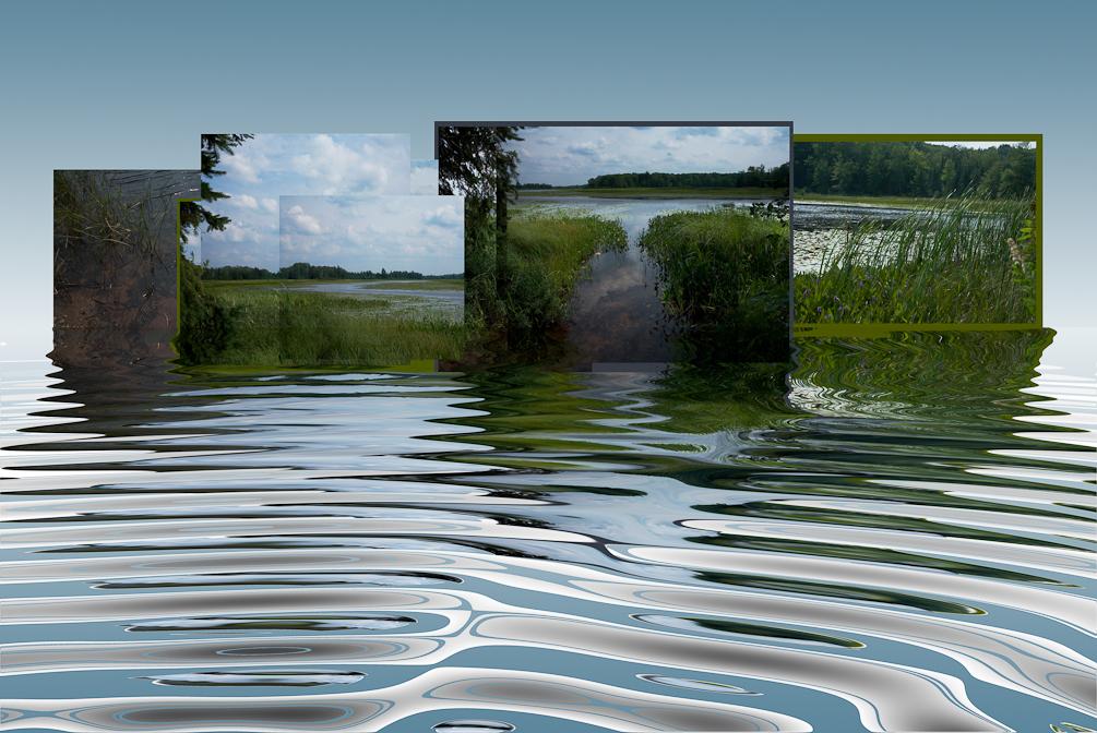Namekagon River in Wisconsin summer montage.
