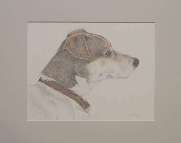 example of Pet Portrait that is matted