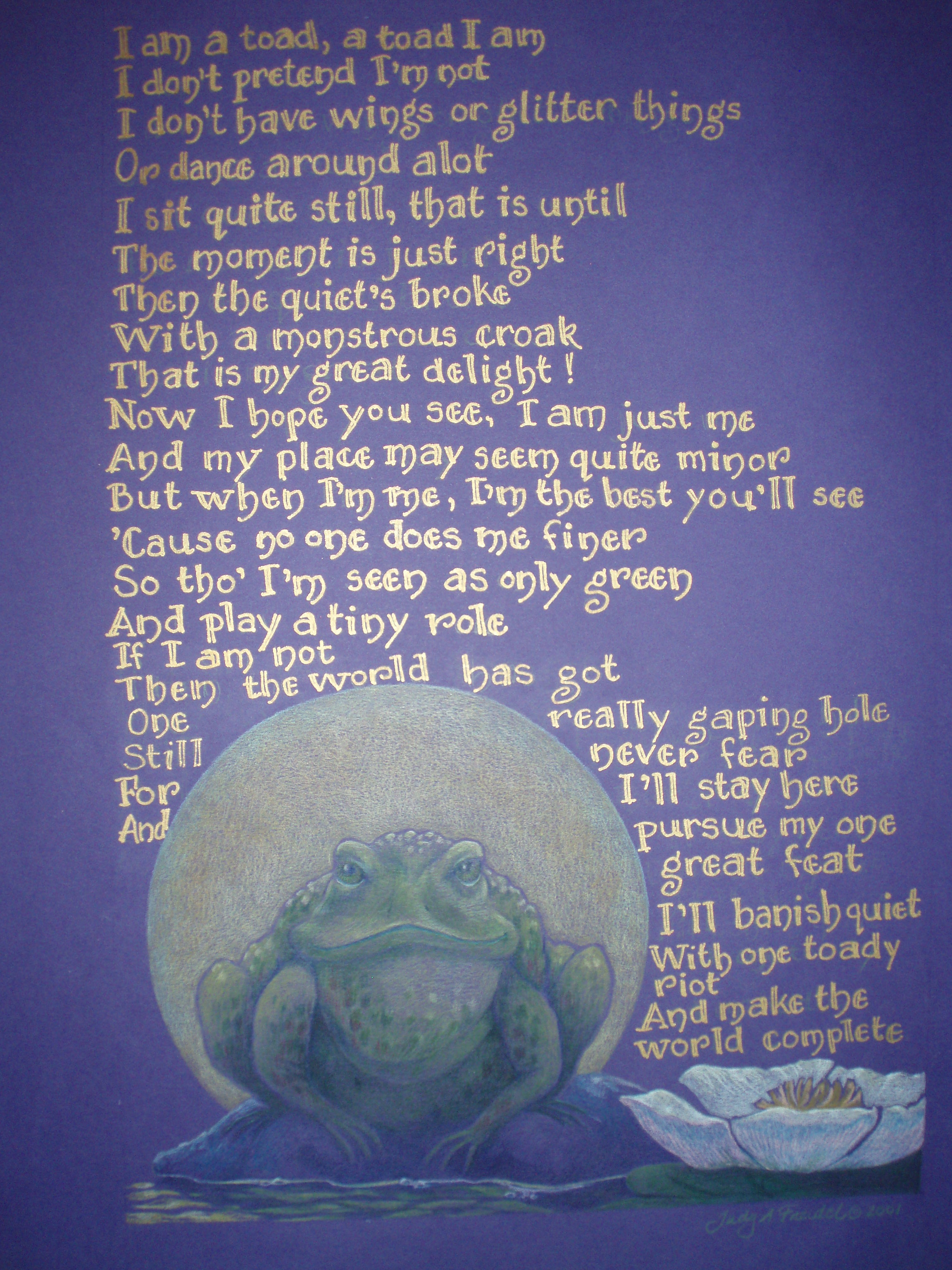 frog and poem