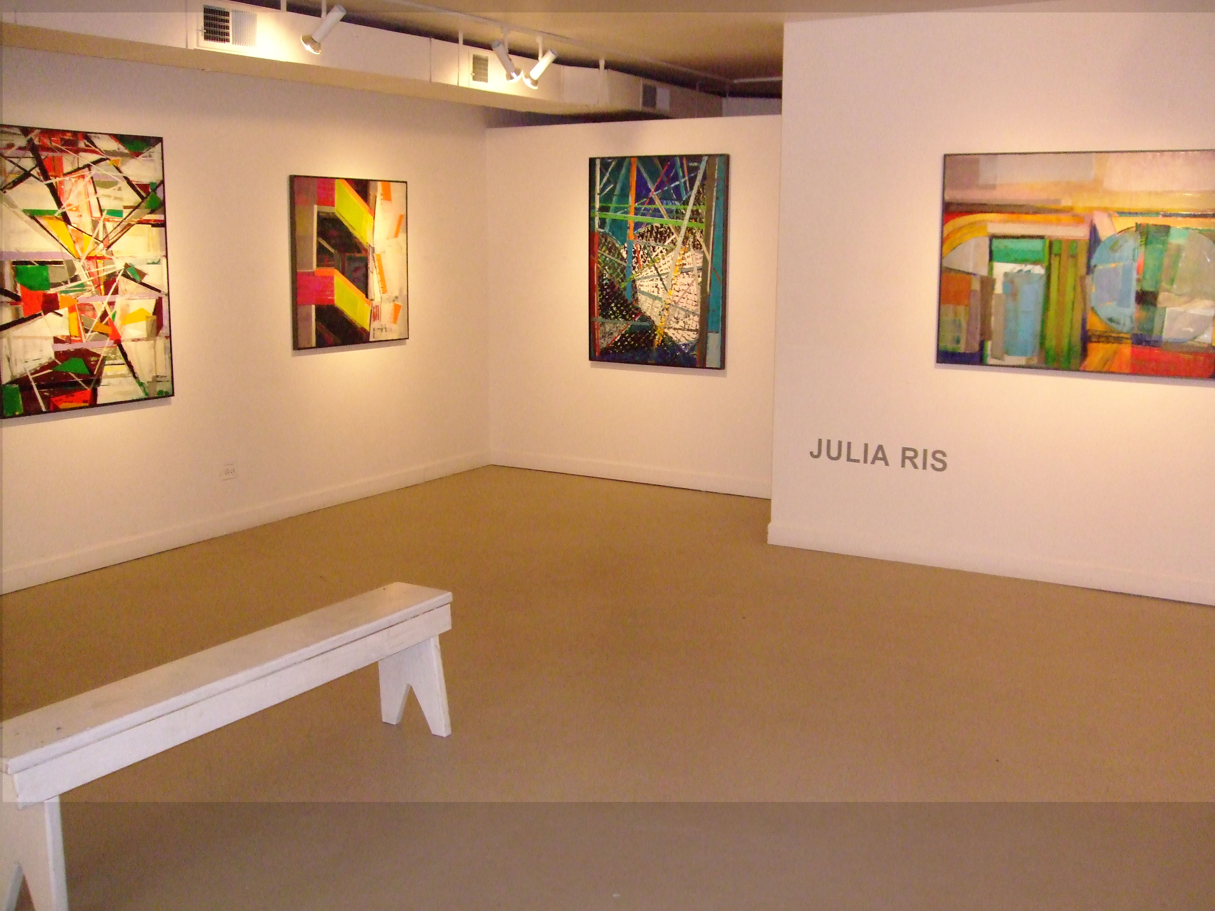 Julia Ris: Working the Angles, Encaustic Paintings Solo Show