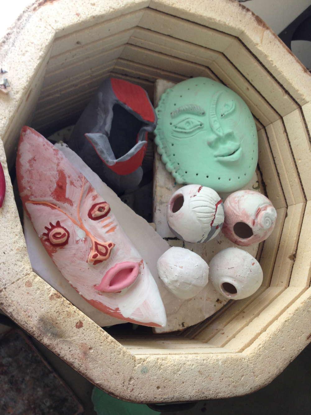 In the glaze kiln