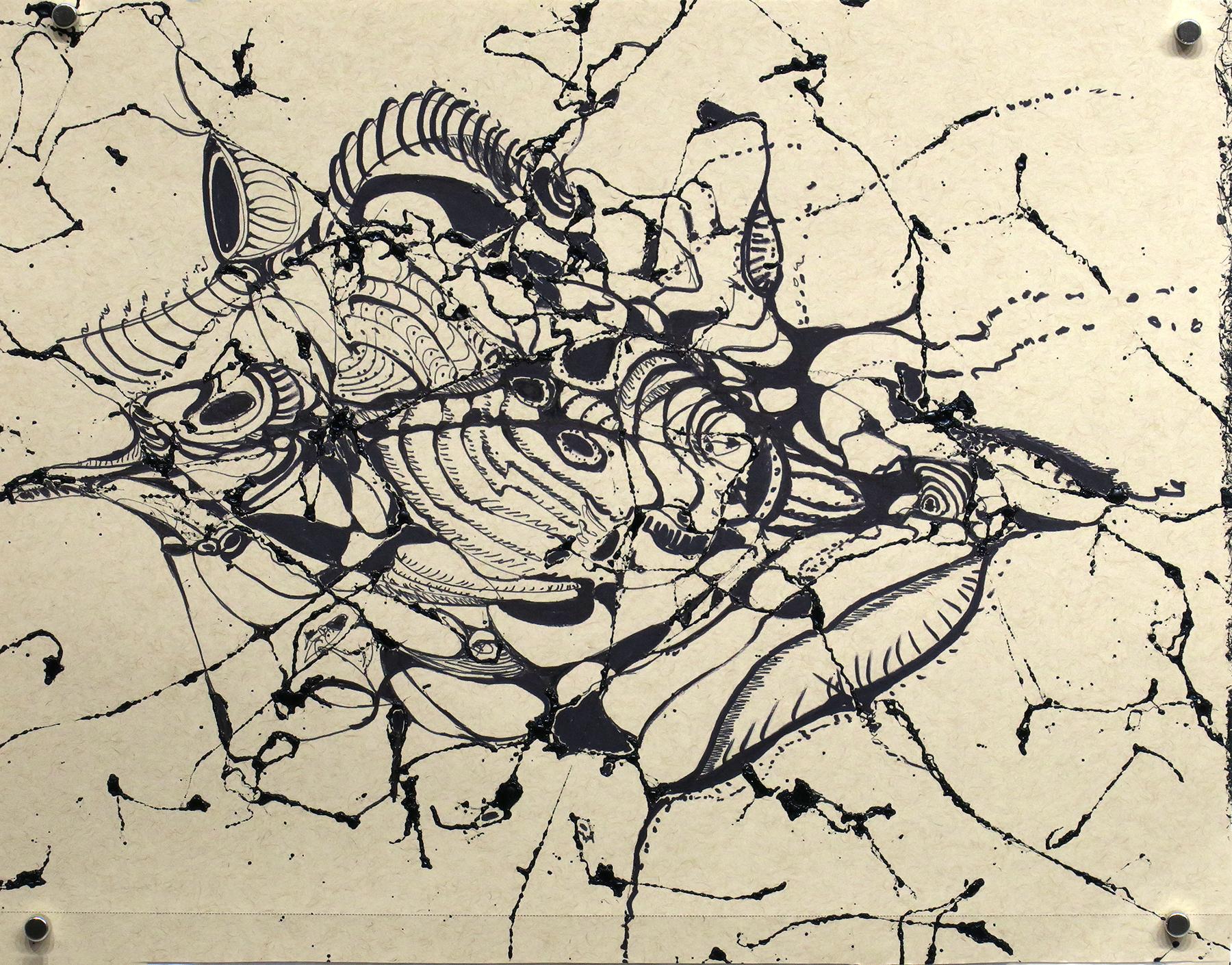 Kathryn Hart, Daunting Transitions, Krakow, Ink Drawing 5