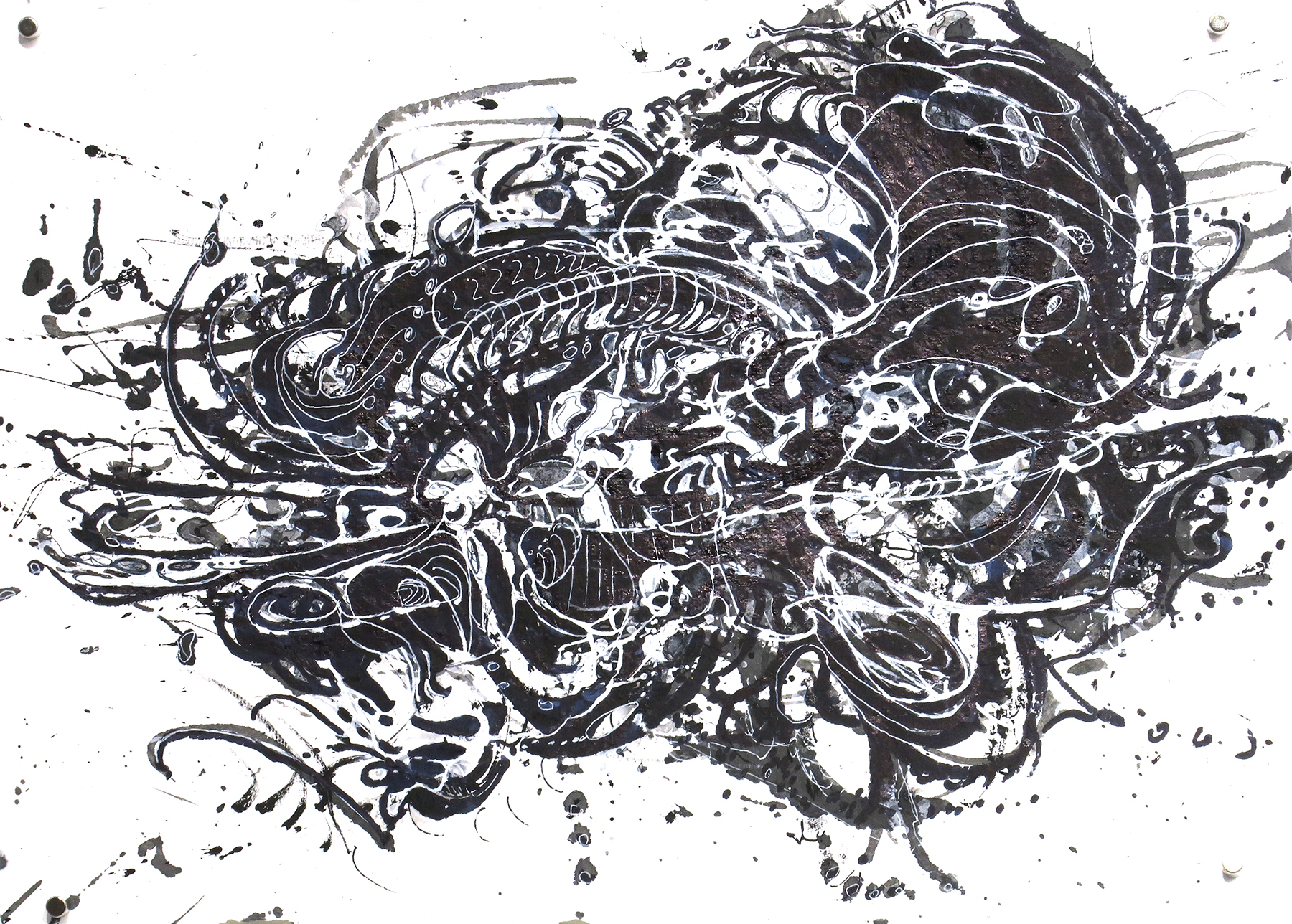 Kathryn Hart, Daunting Transitions, Krakow, Ink Drawing 2