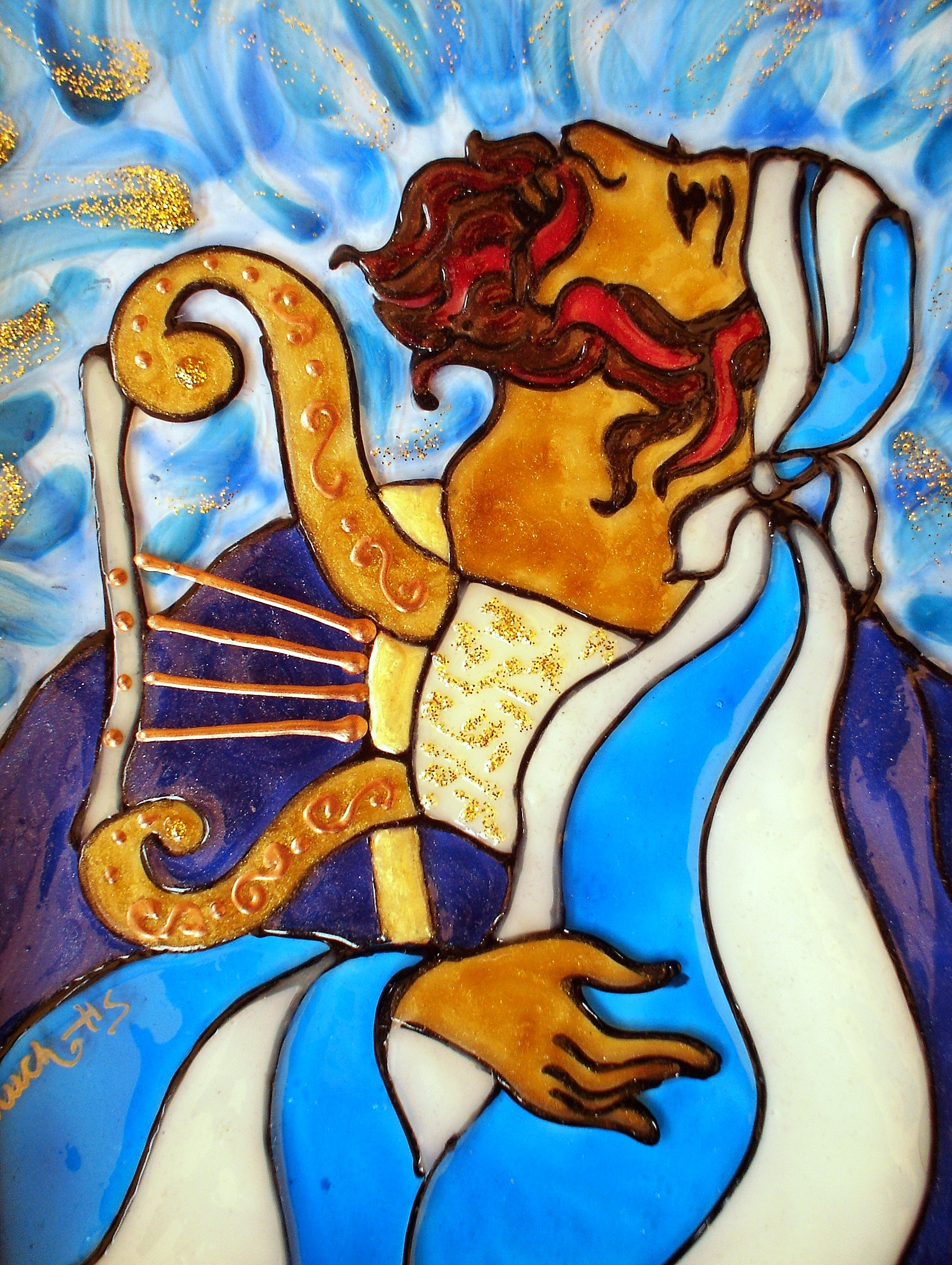 King David with his Harp