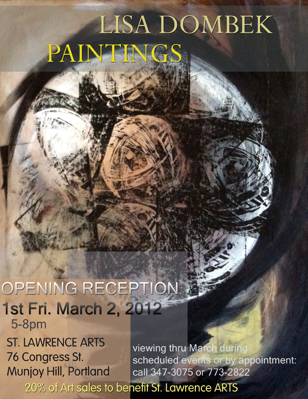 Poster for Art Show at St. Lawrence Arts, 3/2/12