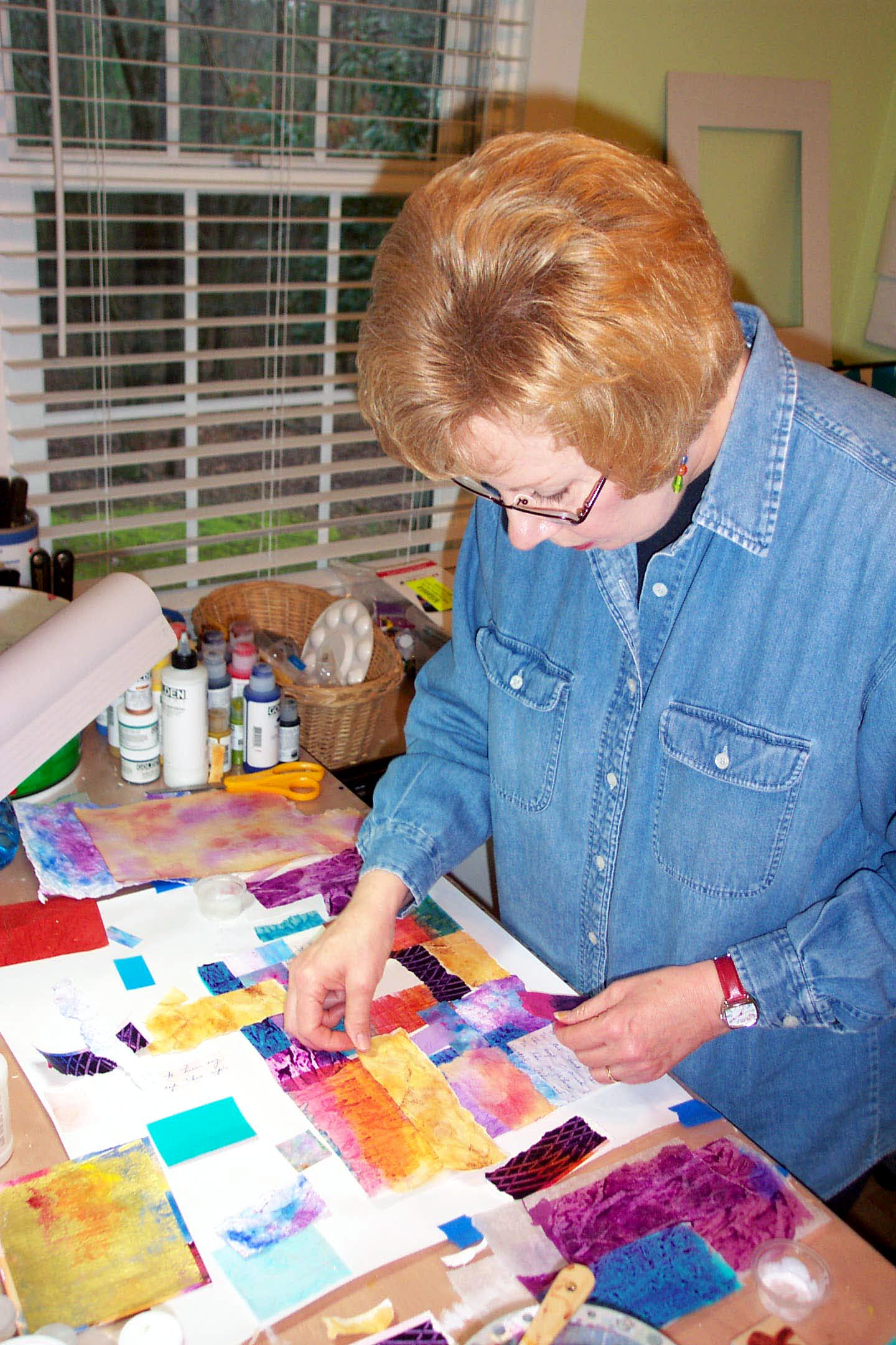 Lynn Edwards in her studio