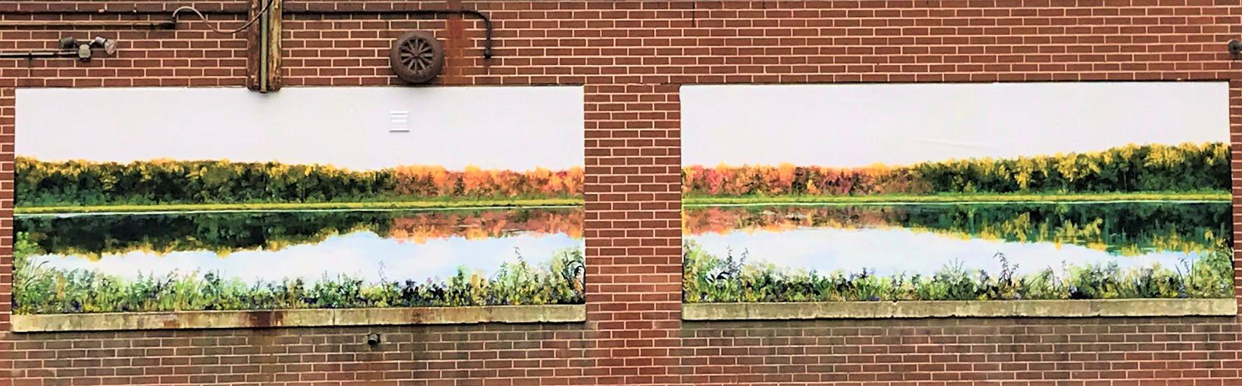 mural on studio exterior