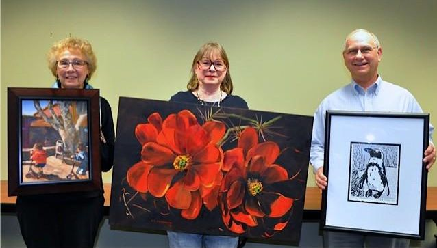 Painting of the Month Winners for Jan 2013 at Richardson Civic Art Society