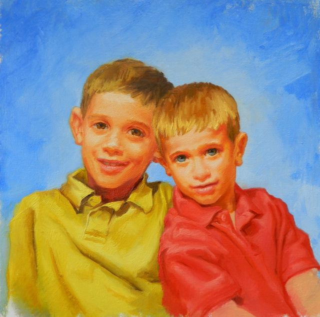 "The finished painting ""Brother's"" portrait"