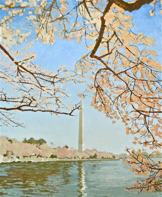 Cherry Blossoms Painting day 05