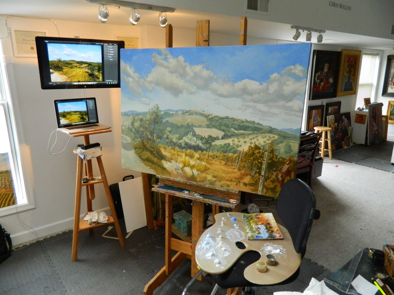 In my studio 2 21 2012