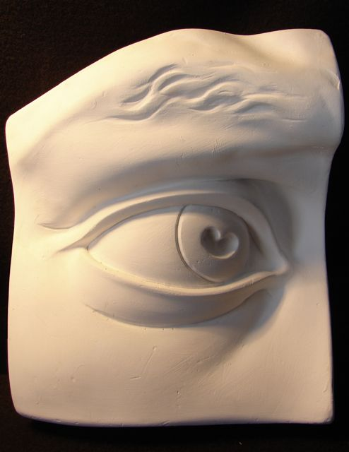 Photo of the cast of Michelangelo's David, the eye